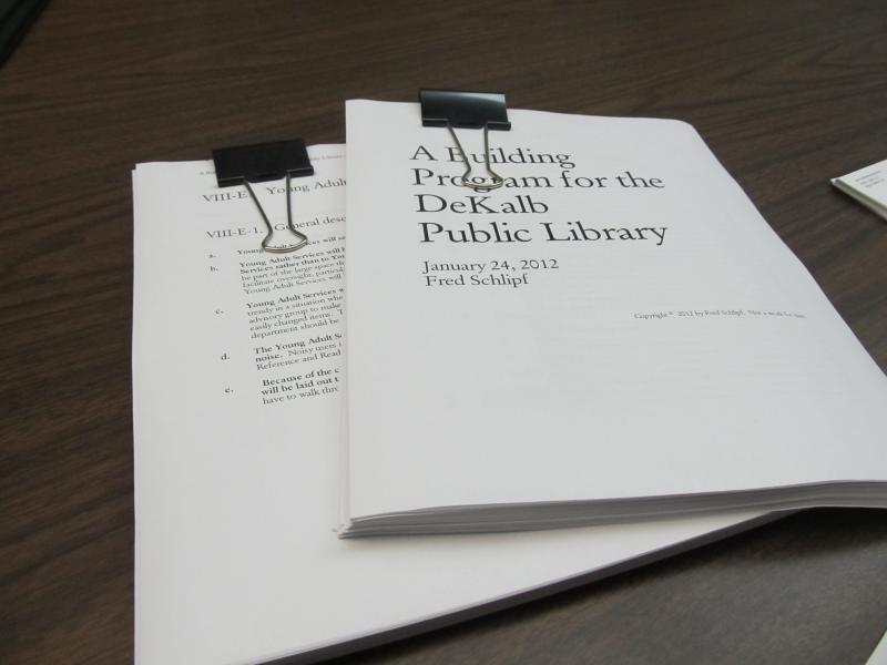 Report on plans to expand the DeKalb Library