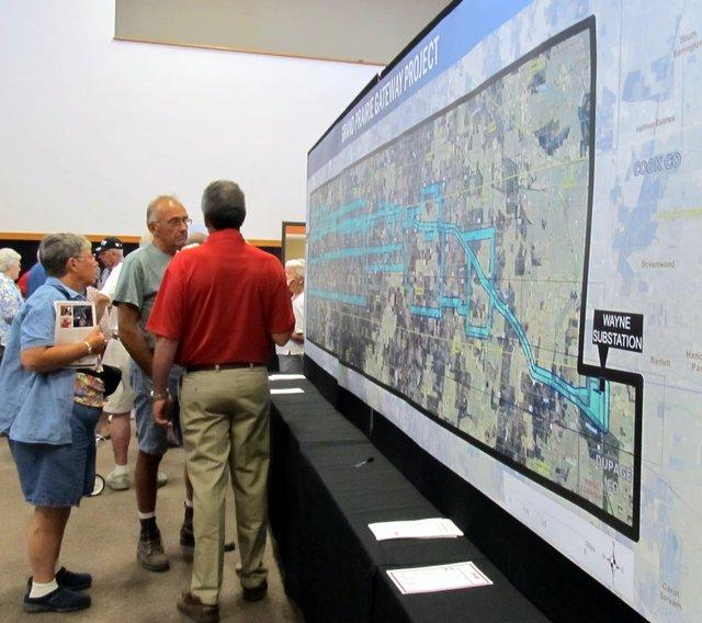 ComEd's Grand Prairie Gateway open houses feature maps. A lot of maps.