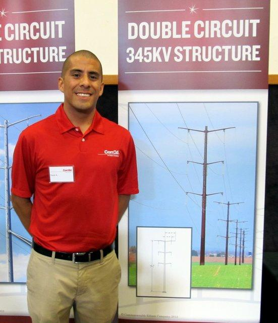David Alvarez specializes in transmission lines for ComEd.