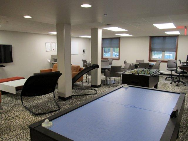 Gilbert Hall's transformation includes a game room.