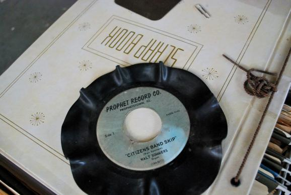 Warped record retrieved from the Historical Society building in downtown Prophetstown