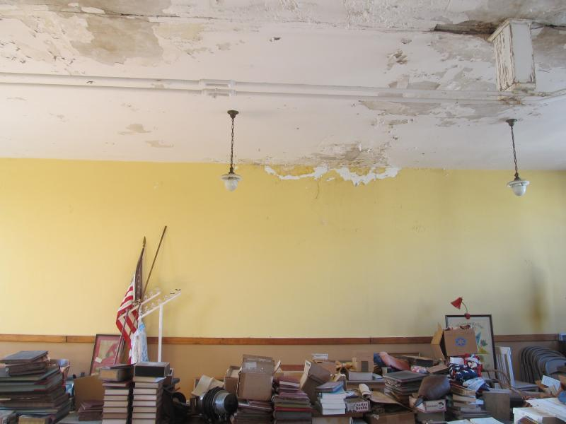 The upstairs of the Polo Senior Center is in need of extensive repairs
