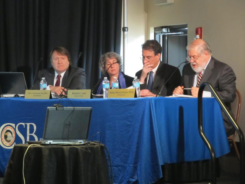 Members of the U.S. Chemical Safety Board hold their final public hearing in Rockford about the fatal NDK Crystal explosion in 2009