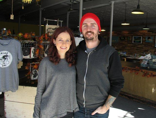 Britney Lindgren and Jarrod Hennis, owners of Rockford Art Deli
