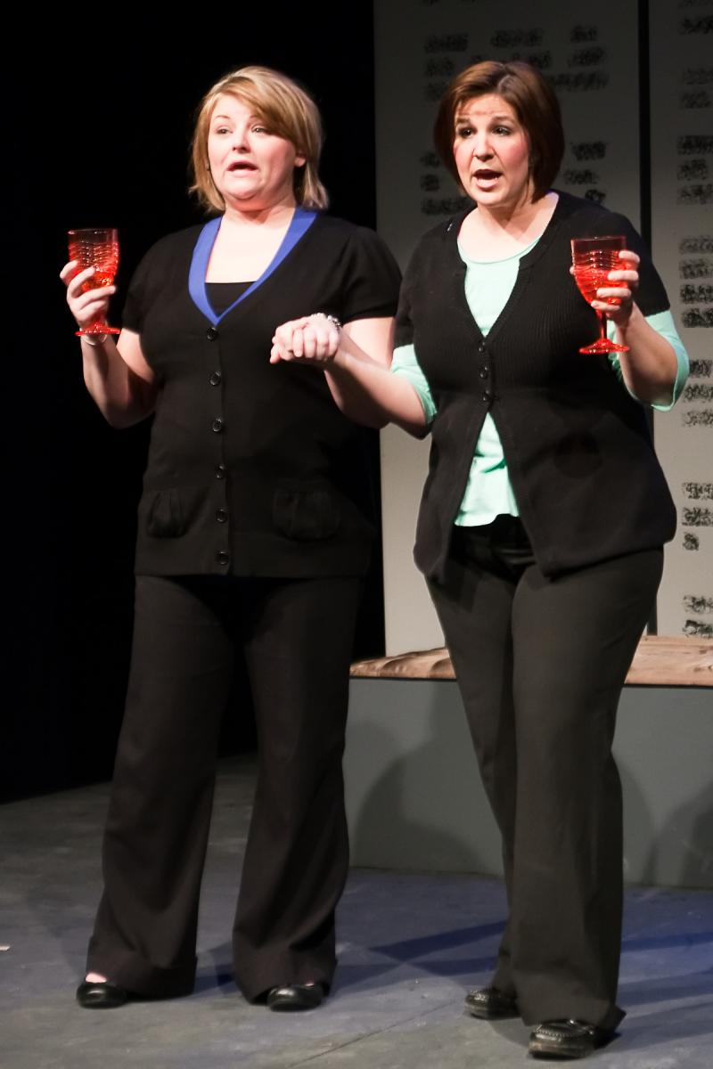 "Jennifer Thompson, right, performs in ""Personals,"" a production of Main Street Players of Boone County."