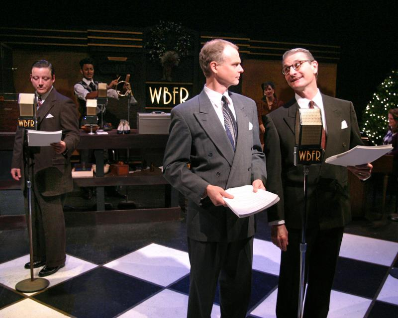"Richard Raether, right, performs in the Artists' Ensemble production of ""It's a Wonderful Life"""