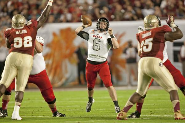 Jordan Lynch makes a pass during a game against Florida State in the 2013 Discover Orange Bowl