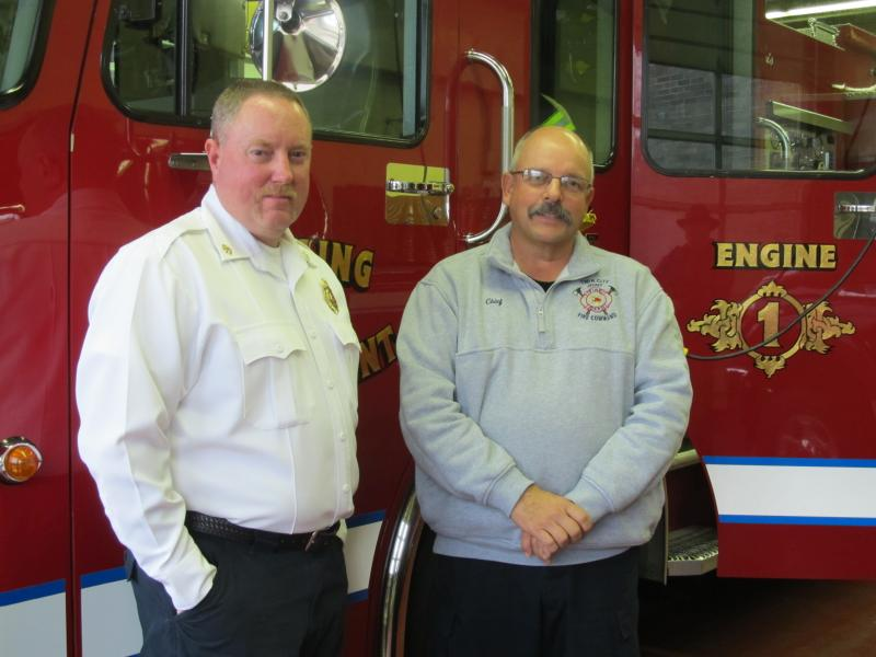 Twin City Joint Fire Command Deputy Chief Mike Dettman and Chief Gary Cook