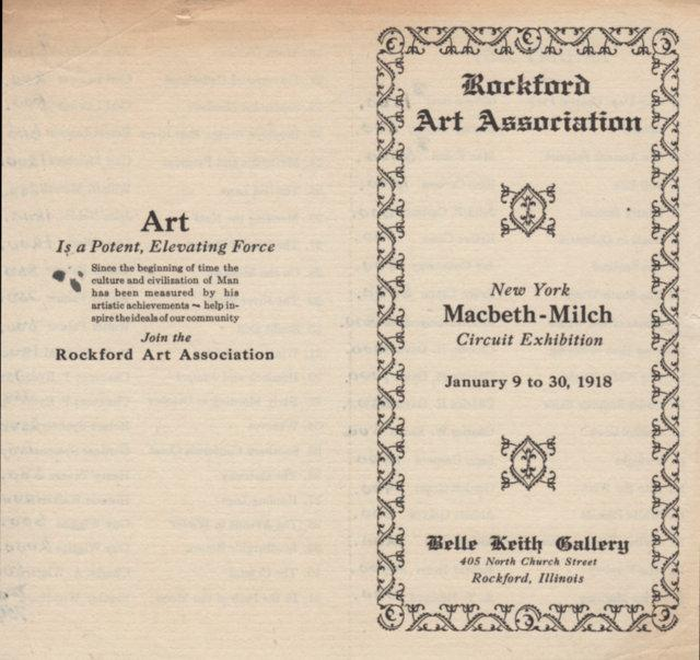An early Rockford Art Association Exhibition