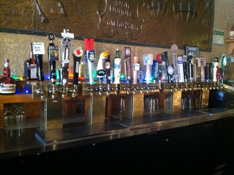 The taps at the Oasis.