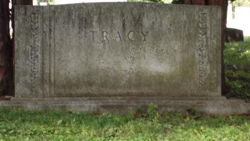 Tracy family grave site in Freeport's Calvary Cemetery (Spencer Tracy is not buried there--just his parents and an uncle.