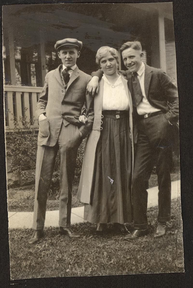 1918 family photo shows (l to r) Carroll Tracy, Carrie Tracy & Spencer Tracy. Carroll was Spencer's younger brother; Carrie was his mother.