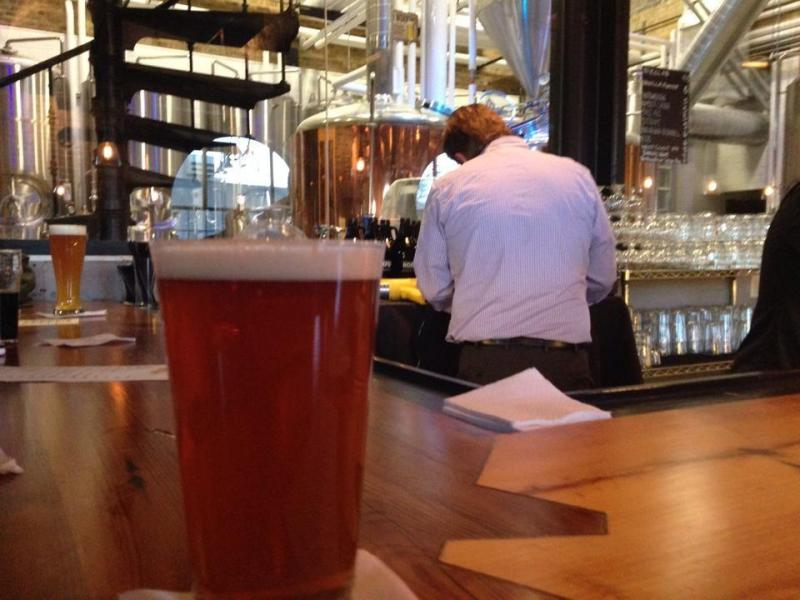 A pint of IPA at the Prairie Street Brewhouse, Rockford
