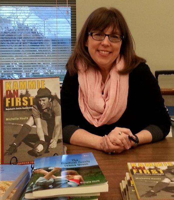 """Michelle Houts, author of """"Kammie on First,"""" at a DeKalb Farm Bureau book-signing."""