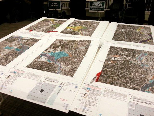 Tables at the Rockford Metropolitan Agency for Planning were covered with dozens of maps showing flood-prone areas within Winnebago County.