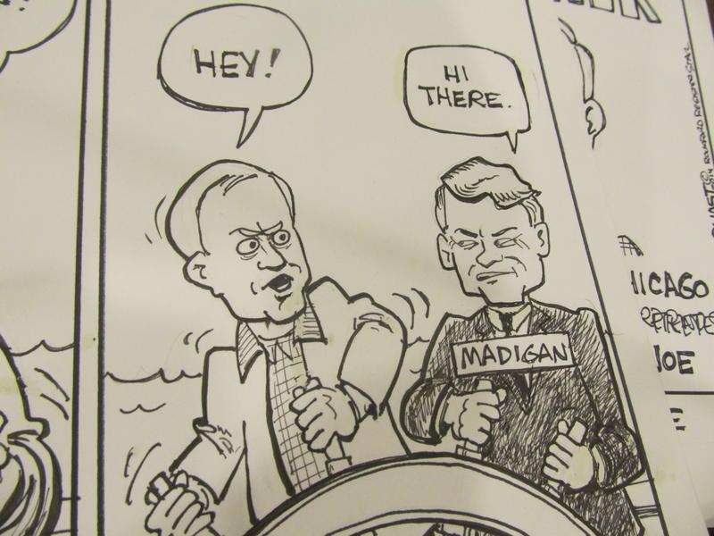 portrayal of Gov. Rauner and House Speaker Michael Madigan (Bruce Quast, Rockford Register-Star)