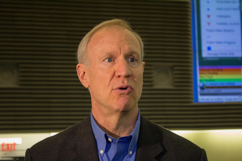 File Photo: Illinois Gov. Bruce Rauner