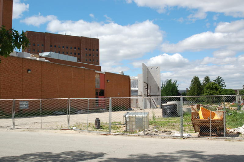 File photo of the NIU Stevens Building construction site.