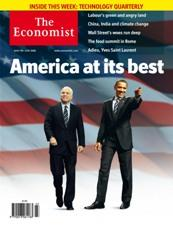 Economist cover from Summer, 2008