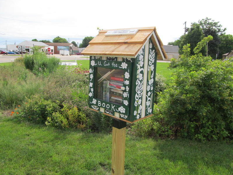 This Little Free Library is next to the Pollinator Garden at the Princeton Public Library.