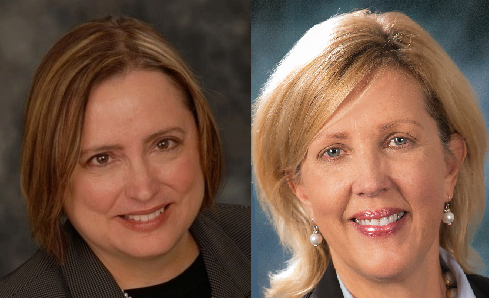 Democratic challenger Christine Benson, left, and Republican incumbent Sue Rezin, right.