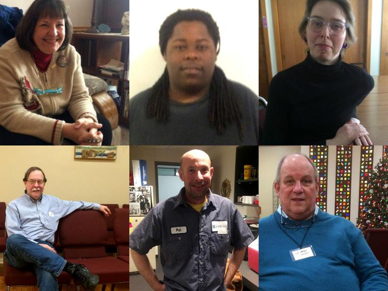 Top row, left to right: Linda Slabon, David Obichere, Nicole Berns. Bottom row, left to right: Lon Clark, Patrick Heisner, Allen Harden.