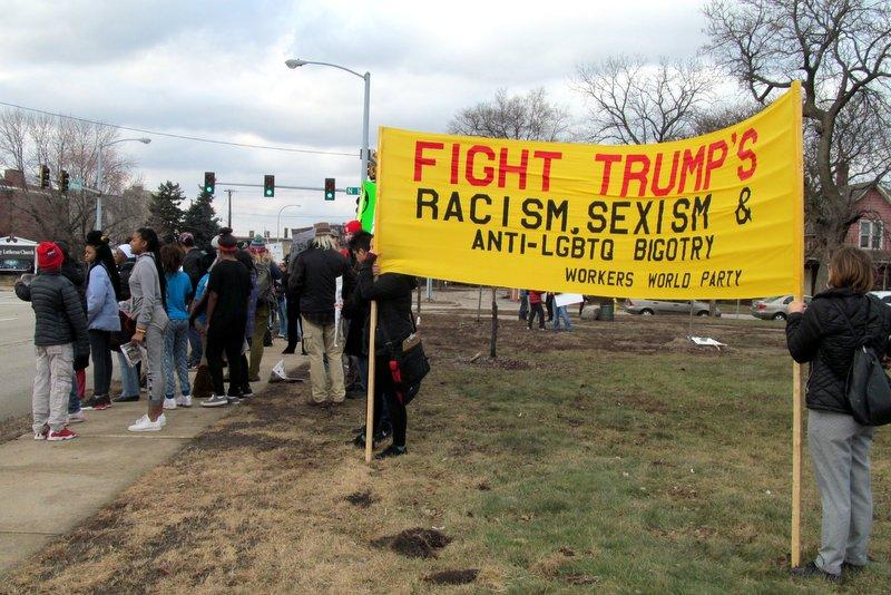 The Workers World Party held a more political rally in Rockford's Haight Park