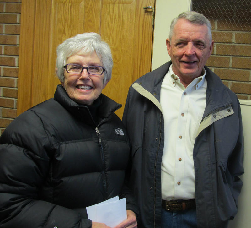 Pam and Roger Carlson, fish fry aficionados and first in line
