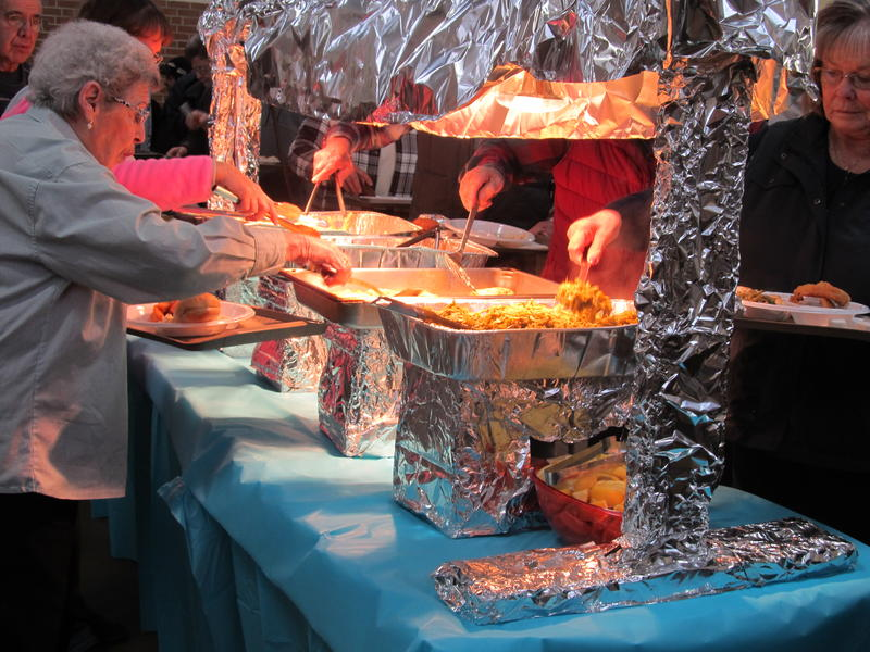 The buffet-style fish fry at SS Peter and Paul in Virgil.