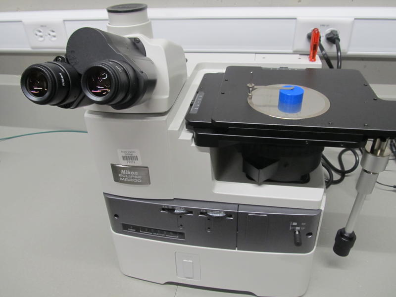 Inverted Metallurgical microscope in the Materials Lab