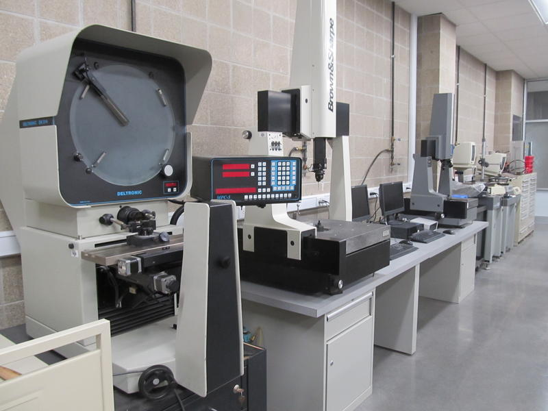 Metrology equipment used to measure part dimensions