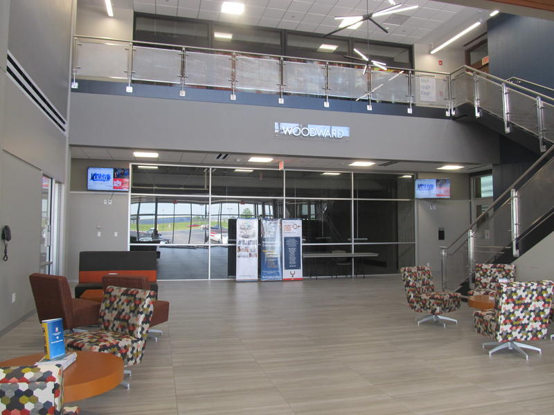 lobby of the Woodward Technology Center