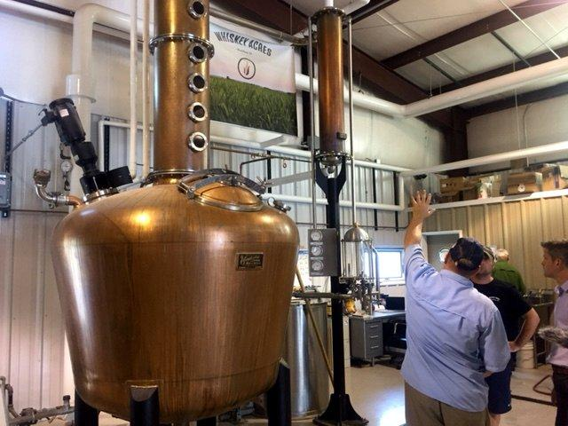 The still at the heart of the operations at Whiskey Acres