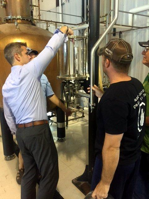 Tasting the still's output -- too soon.