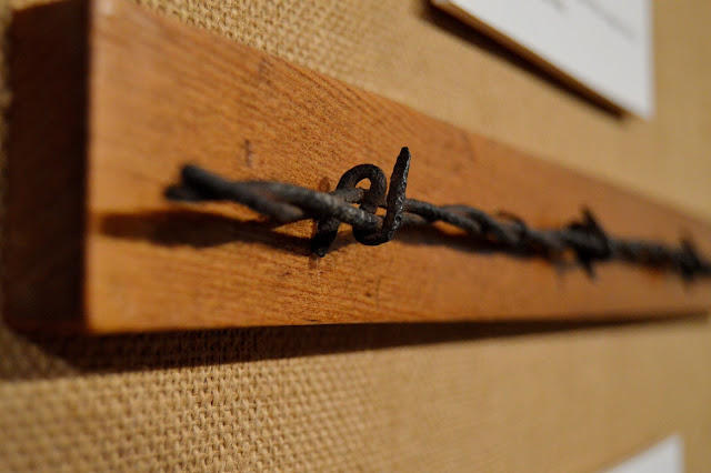 "A sample of ""S"" wire on display at the Ellwood House Museum in DeKalb."