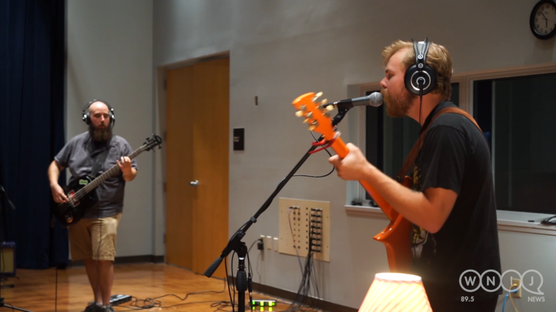 Tundras performing in WNIJ's Studio A