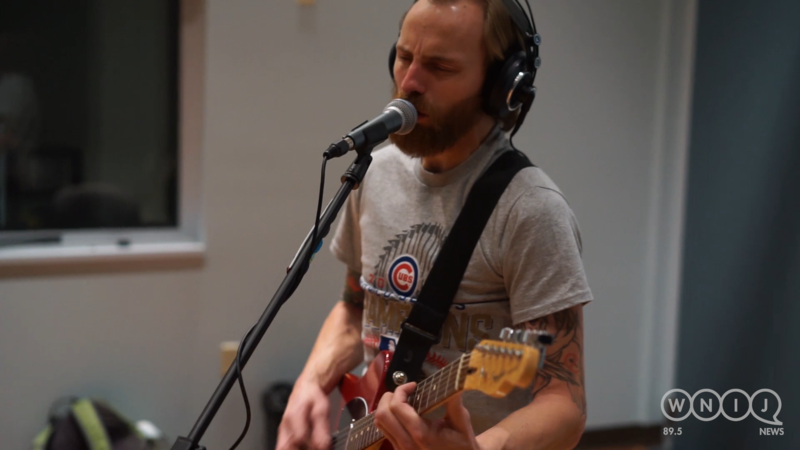 Captain Wails & The Harpoons performs in WNIJ's Studio A