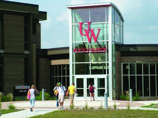 The UW Rock County campus in Janesville would be merged with the University of Wisconsin-Whitewater under a new restructuring plan proposed Wednesday.