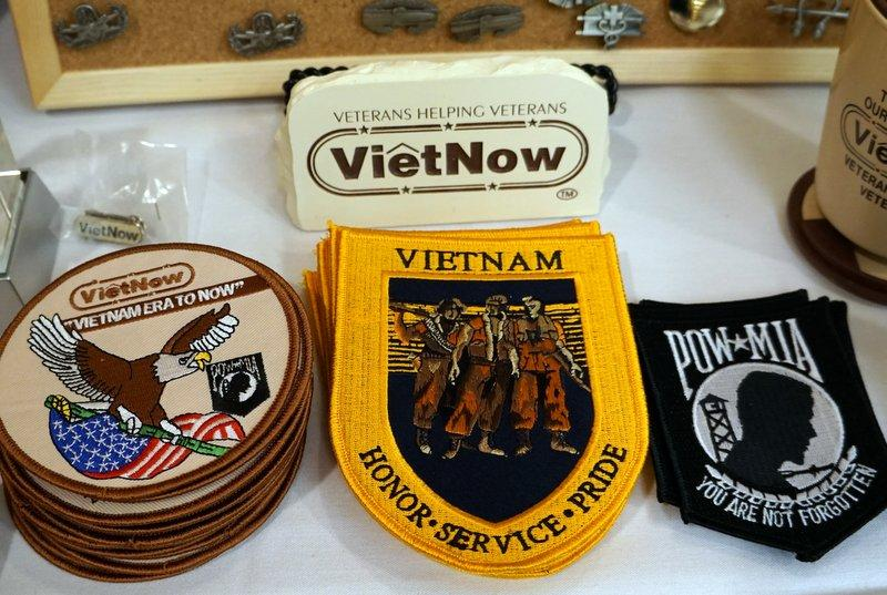 VietNow patches and paraphernalia that were distributed at various gatherings.