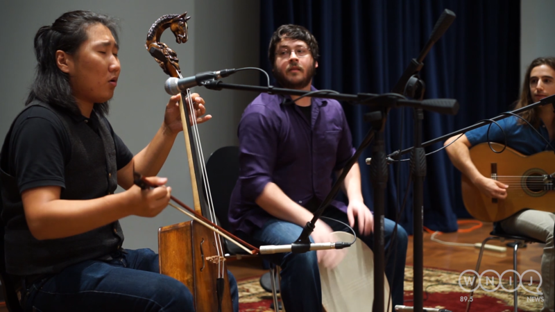 Northern Wind Trio performs in WNIJ's Studio A