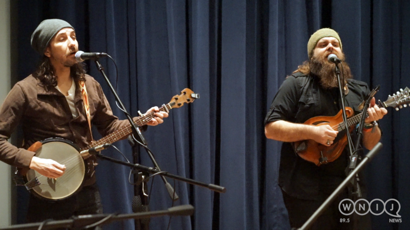 The Giving Tree Band performs in WNIJ's Studio A