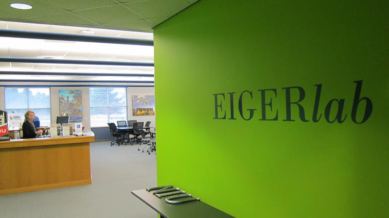 The EIGERlab business development space is located in the Northern Illinois University campus in Rockford.
