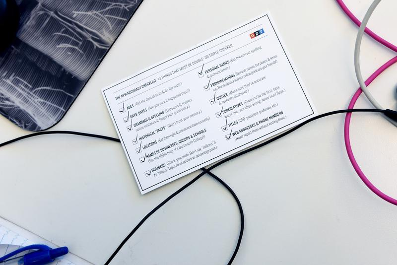 Keep a copy of the accuracy checklist in a place where you can refer to it easily and often.
