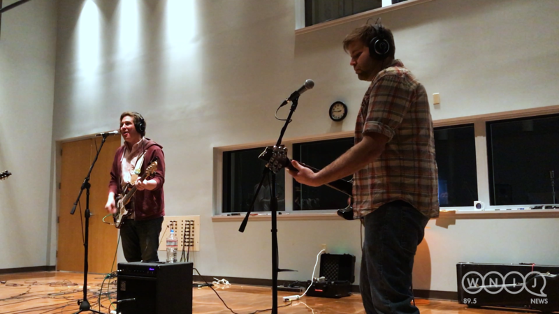 Seasonal Men's Wear performs in WNIJ's Studio A