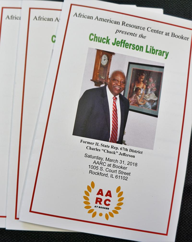 The program of the dedication of the Chuck Jefferson Library.