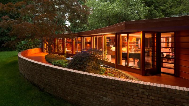 The Kenneth Laurent Home in Rockford is the only building ever designed by Wright for a person with a disability. This single-story Usonian home is both functional and beautiful -- and decades ahead of ADA accessibility requirements.
