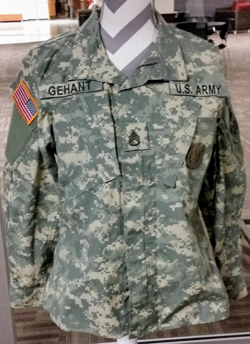 This is the ROTC uniform of NIU shooting victim Julia Gehant,