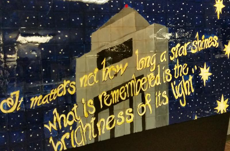 This is a portion of a mural that was displayed on the NIU campus in the aftermath of the Feb. 14, 2008, shootings.