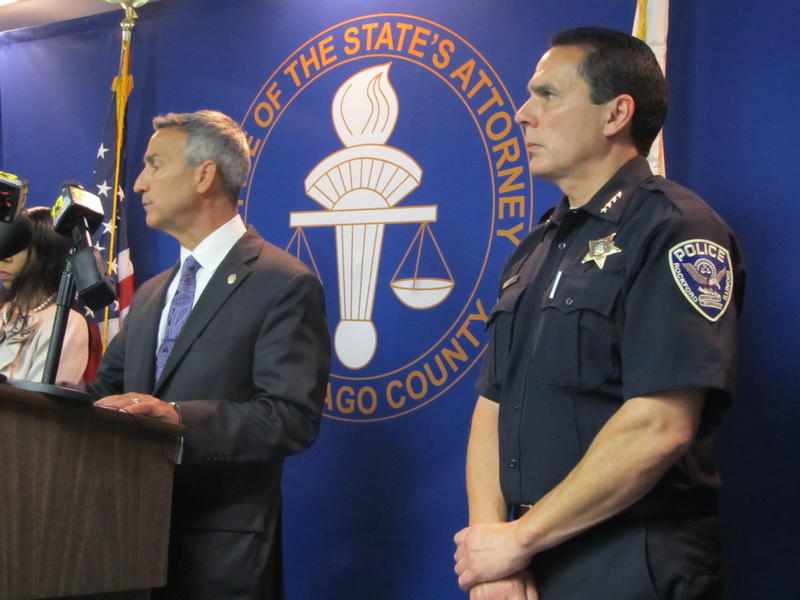 Winnebago County State's Attorney Joe Bruscato (left) Rockford Police Chief Dan O'Shea (right)