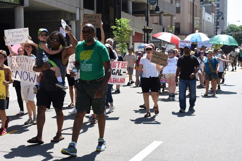 Rockford protestors took to the streets on June 30, 2018